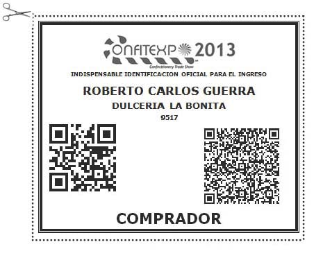 GAFETE DE COMPRADOR C2013